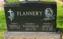 Etched Catholic Headstone