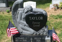 Heart Angel Headstone