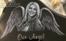 Our Angel Etched Headstone