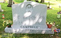Upright headstone and base from Pepin Granite in Barre, VT