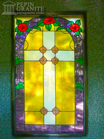 Stained Glass Window in Mausoleum